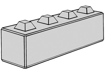 Stapelblok (lxbxh)  160x40x40 4 nok uitvoering
