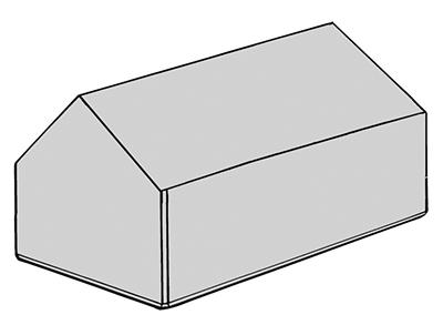 Stapelblok dak 160x80x80
