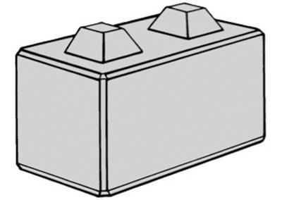 Stapelblokken (lxbxh) 80x40x40 2 nok uitvoering