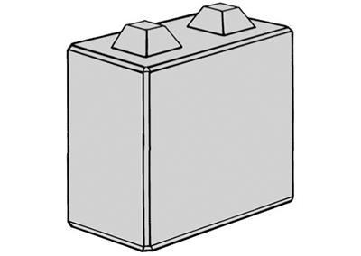 Stapelblokken (lxbxh) 80x40x80 2 nok uitvoering