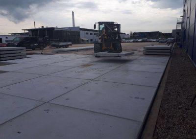 Bergschenhoek geleverd 700 stuks Industrieplaten voor een parkeerplaats